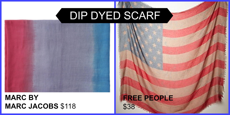 dip dyed scarves