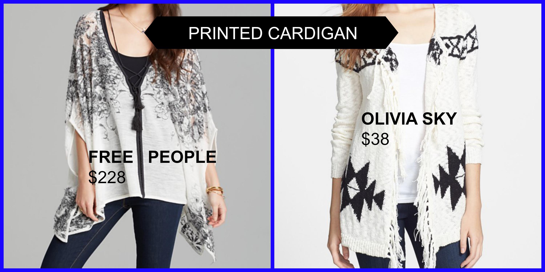 printed cardigans