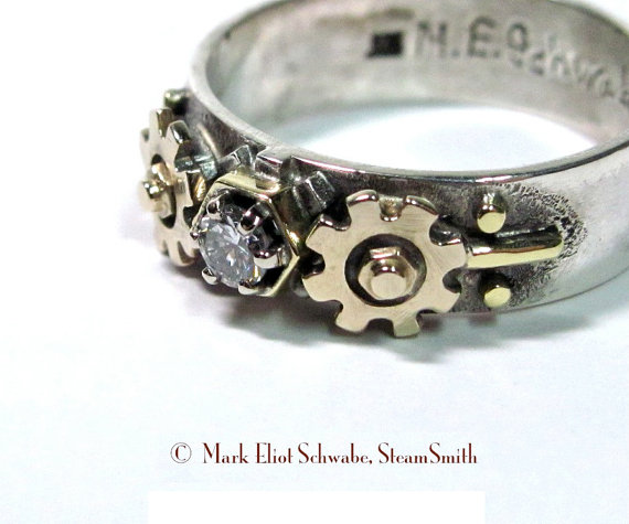 nerdy engagement rings wedding rings sets