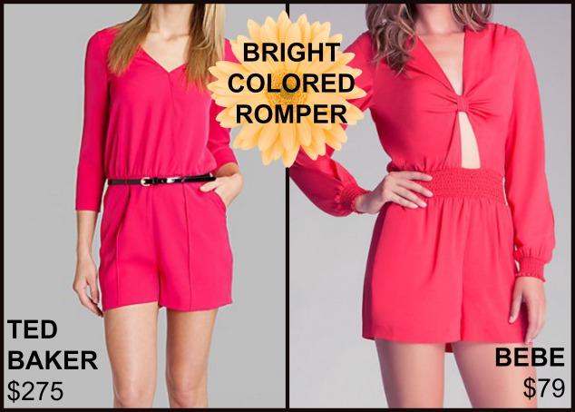 bright colored romper