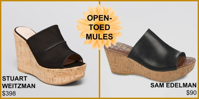 open toed mules
