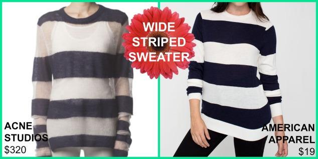 wide striped sweaters