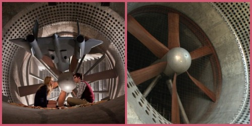 wind tunnel collage