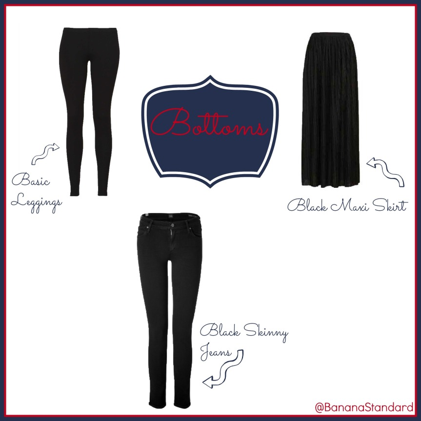 Find all of these items at the following links: Victoria's Secret leggings, Citizens of Humanity jeans, and Topshop pleated maxi skirt