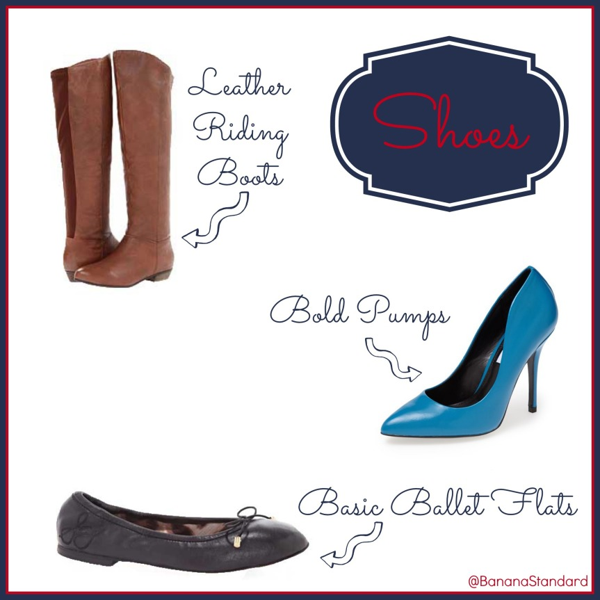 """Find all of these items at the following links:  Steve Madden """"Tan Creation"""" boots, Steve Madden """"Galleryy"""" pumps, and Sam Edelman """"Felicia"""" Ballet Flats"""