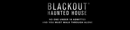 Blackout haunted house logo