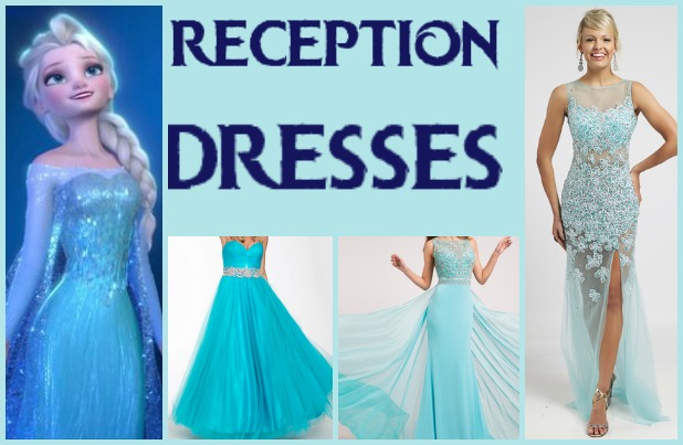 From left to right: Jovani ballgown, Jovani sleeveless jersey dress, and Jovani sleeveless fitted dress